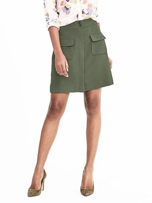 Crepe Military Skirt $78 thestylecure.com