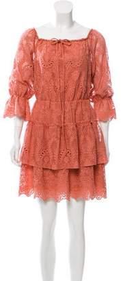 Alice + Olivia Crochet Mini Dress