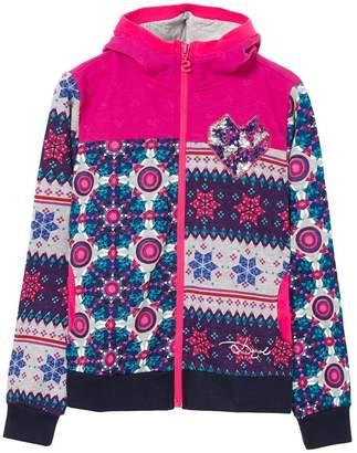 Desigual Little Girls' Sweater Becket, Fuchsia Rose