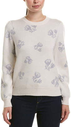 Rebecca Taylor Jacquard Wool-Blend Pullover