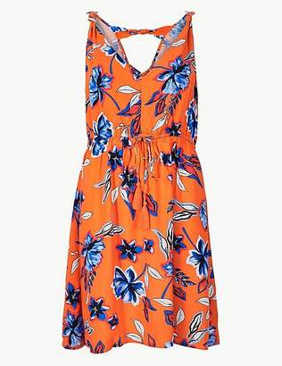 Marks and Spencer Floral Print Knot Swing Beach Dress