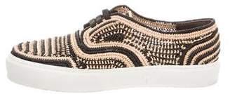 Robert Clergerie Teba Straw Sneakers