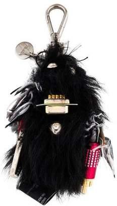 Prada Fur Robot Keychain