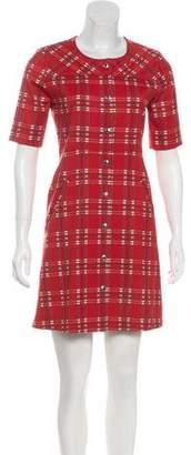 MAISON KITSUNÉ Virgin Wool-Blend Plaid Dress