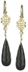Jolie B Ray Tres Jolie Diamond and Removable Onyx Stone Earrings
