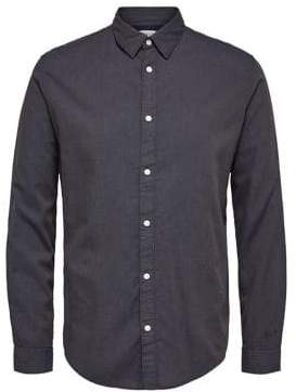 Selected Slim-Fit Printed Button-Down Shirt