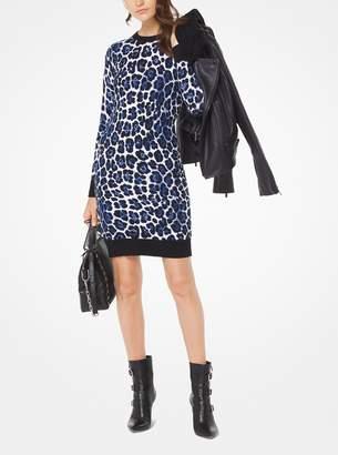 MICHAEL Michael Kors Leopard Stretch-Knit Dress