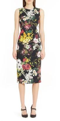 Women's Dolce&gabbana Floral Print Stretch Silk Sheath Dress $1,995 thestylecure.com