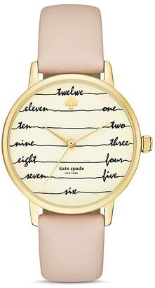 kate spade new york Chalkboard Metro Leather Strap Watch, 34mm $195 thestylecure.com