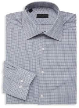Micro Check Long-Sleeve Dress Shirt