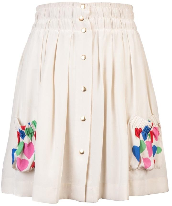 Lauren Moffatt Heart print mini skirt
