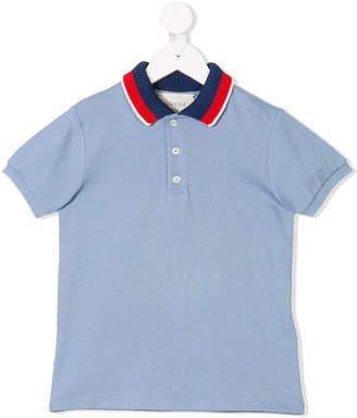 Gucci Kids ribbed collar polo shirt