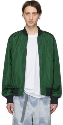Dries Van Noten Reversible Green Volker Bomber Jacket