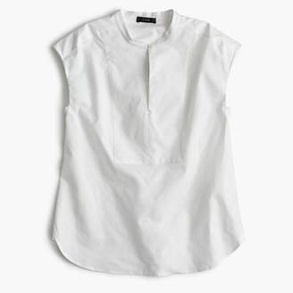 J.Crew Tall cap-sleeve top in cotton poplin