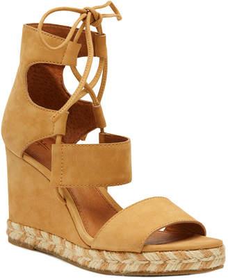 Frye Roberta Ghillie Leather Wedge Sandal
