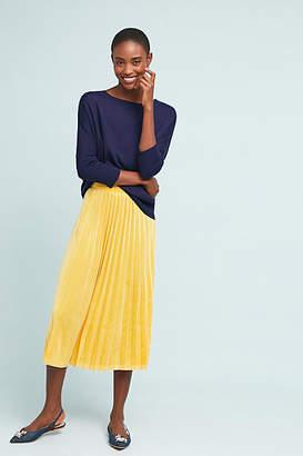 Just Female Pleated Velvet Midi Skirt