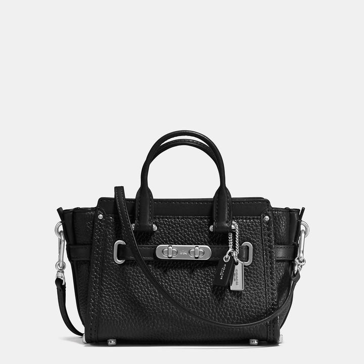 COACH Coach Swagger 15 In Pebble Leather