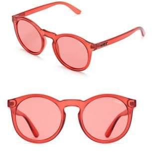 Quay Kosha Comeback Translucent Round Sunglasses