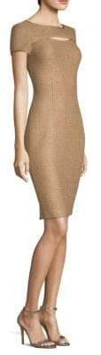 St. John Glamour Sequin Knit Sheath Dress