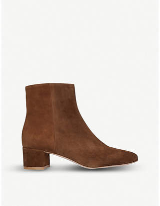 Gianvito Rossi Trish 45 suede ankle boots