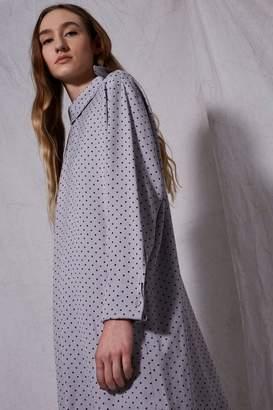 Boutique **spot fold neck shift dress
