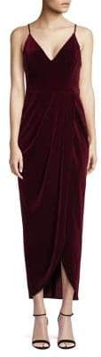 Xscape Evenings V-Neck Velvet Midi Dress