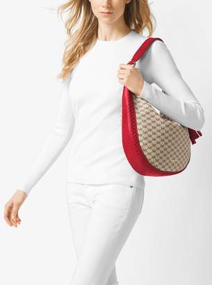 MICHAEL Michael Kors Lauryn Large Logo Shoulder Bag