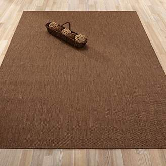 Ottomanson Jardin Collection Natural Solid Design Indoor/Outdoor Jute Backing Area Synthetic Sisal Rug