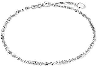Amor Women's Anklet Summer Jewellery Heart 925 Sterling Silver – 92166
