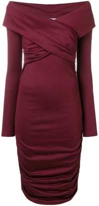 Diane von Furstenberg fitted off-the-shoulder dress