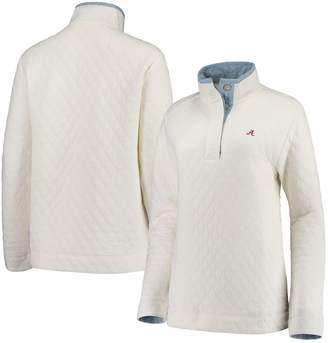Unbranded Women's Sail Racing White Alabama Crimson Tide Southern Tide Quilted Four-Button Pullover Jacket
