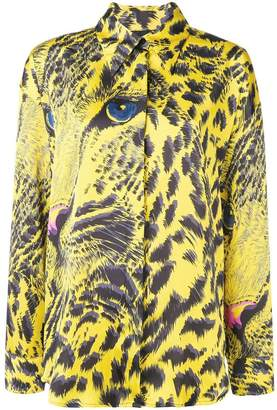 MSGM abstract tiger print shirt