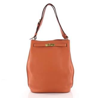 Hermes So Kelly Orange Leather Handbag