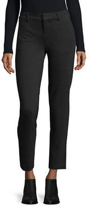 Lord & Taylor Solid Ponte Ankle Trousers