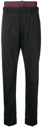 Prada double waistband tailored trousers