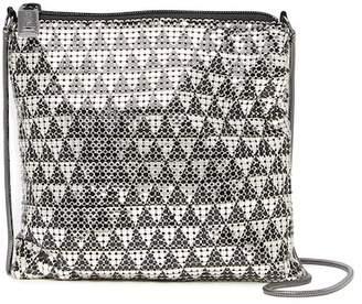 Whiting & Davis Deco Triangles Crossbody Bag