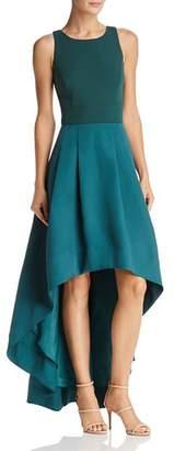 Eliza J High/Low Color-Block Gown