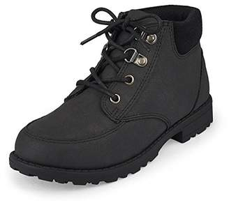 Children's Place The Boys Ankle Boot Black