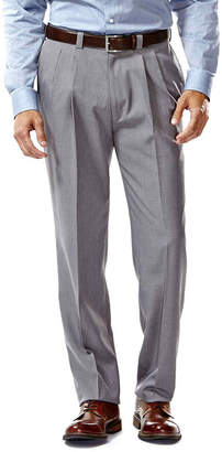 Haggar Eclo Straight-Fit Pleated Stria Dress Pants