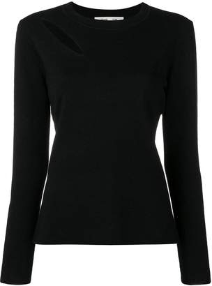 Diane von Furstenberg cut-out detail jumper
