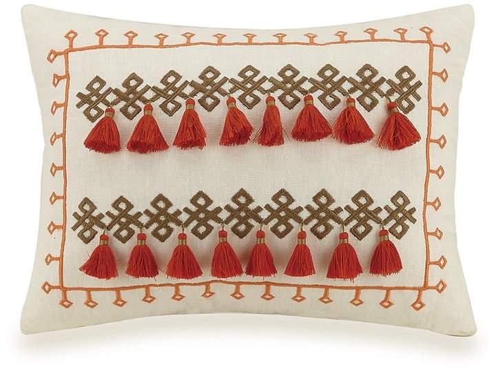Jessica Simpson Caicos Geo Embroidery & Tassel Breakfast Pillow