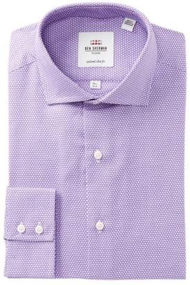 Ben Sherman Textured Florentine Slim Fit Dress Shirt
