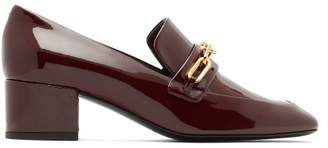 Burberry Chillcot Patent Leather Loafers - Womens - Burgundy