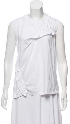 Marni Ruffle-Accented Sleeveless T-Shirt