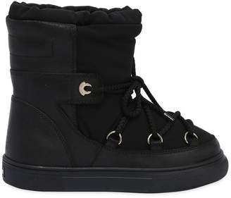 Moncler Waterproof Nylon & Suede Snow Boots