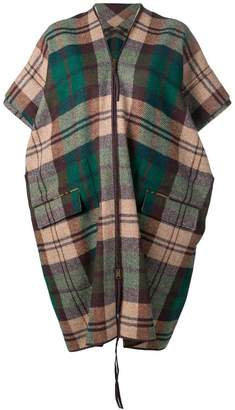 Vivienne Westwood check oversized cape
