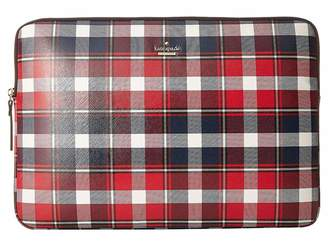 Kate Spade Rustic Plaid Universal Laptop Sleeve Laptop Case