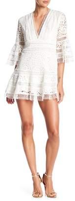 Few Moda Lily Hollow Out Lace Mini Dress