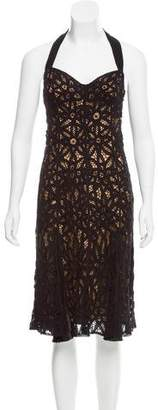 Betsey Johnson Crochet Halter Dress