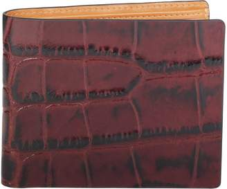 Cross Men's Crocodile Printed Leather Bifold Coin Wallet